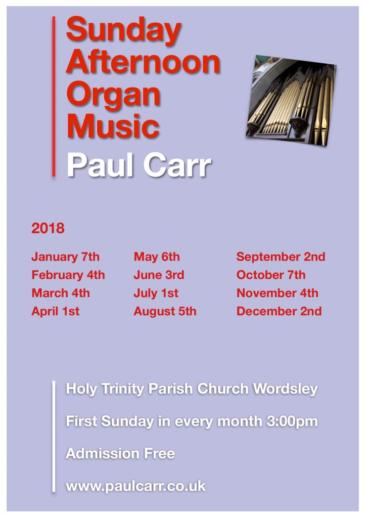 Sunday Afternoon Organ Music 2018