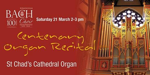 Bach Choir Centenary Recital poster